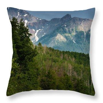 To The Mountains Throw Pillow
