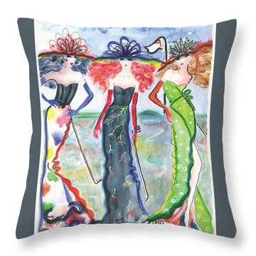 To The Nines Throw Pillow