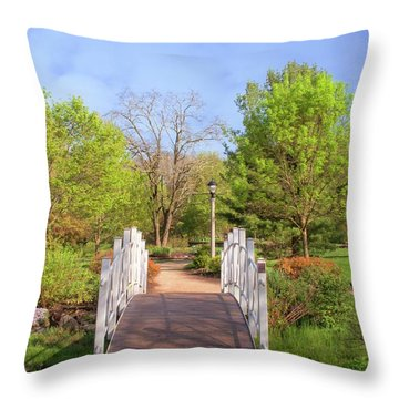 Throw Pillow featuring the photograph To The Other Side Of Spring by Angie Tirado