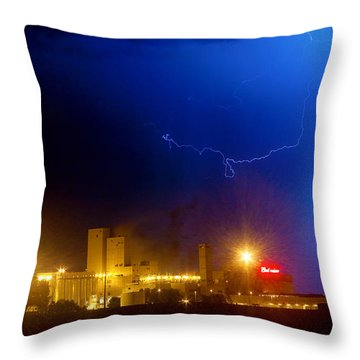 To The Right Budweiser Lightning Strike Throw Pillow by James BO  Insogna
