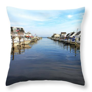 To The Sea At Lbi Throw Pillow by John Rizzuto