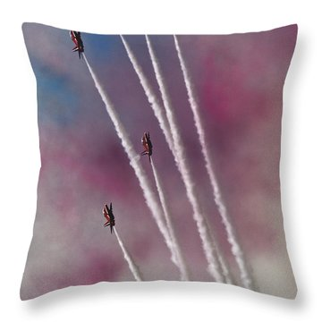 To The Sky Throw Pillow by Angel Ciesniarska