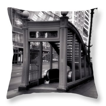 To The Subway - 2 Throw Pillow