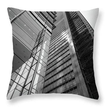 Throw Pillow featuring the photograph To The Top   -27870-bw by John Bald