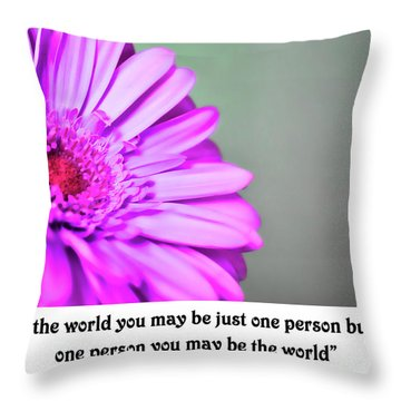 To The World Throw Pillow