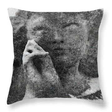 Throw Pillow featuring the photograph  Our Father by Fine Art By Andrew David