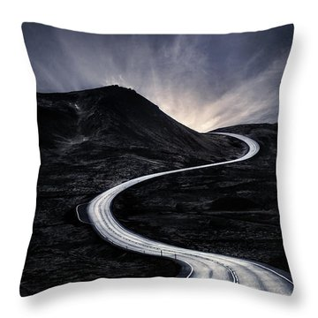 To Where The Darkness Ends Throw Pillow