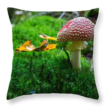 Toadstool Throw Pillow