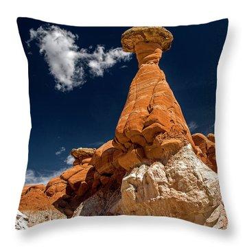 Toadstool Hoodoos 3 Throw Pillow