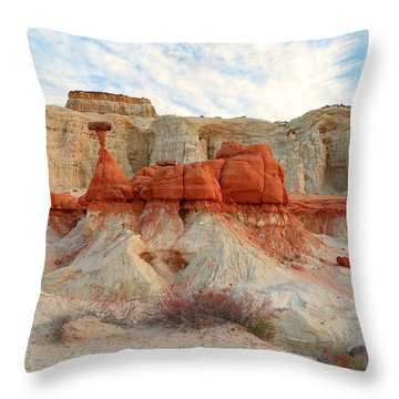 Toadstool Hoodoo's Throw Pillow by Johnny Adolphson