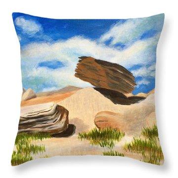 Toadstool Park Nebraska Throw Pillow