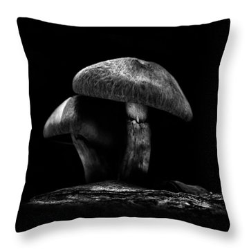 Toadstools On A Toronto Trail No 6 Throw Pillow by Brian Carson