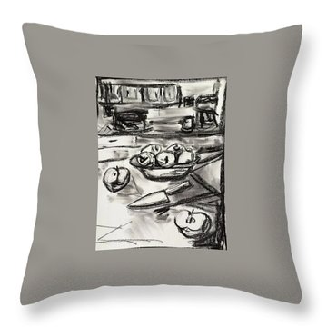 Apples At Breakfast Throw Pillow