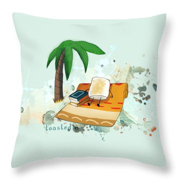 Throw Pillow featuring the digital art Toasted Illustrated by Heather Applegate