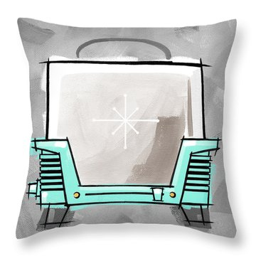 Toaster Aqua Throw Pillow