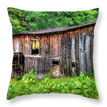 Tobacco Barn Throw Pillow
