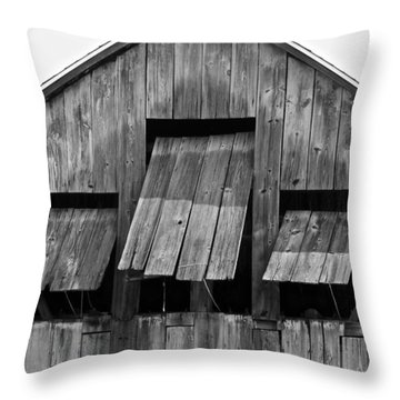 Tobacco Barn Throw Pillow by Jim Gillen