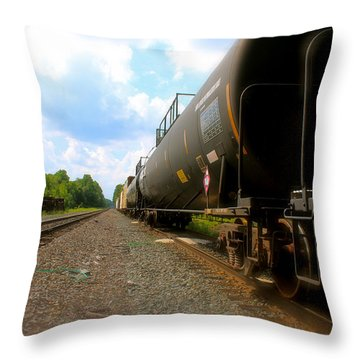 Tobyhanna Freight Train Throw Pillow