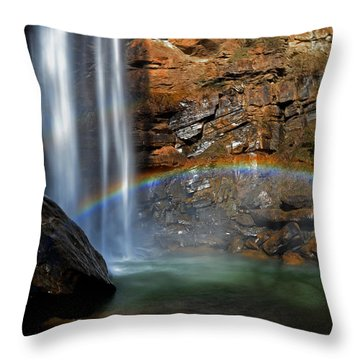 Toccoa Falls Rainbow 001 Throw Pillow by George Bostian