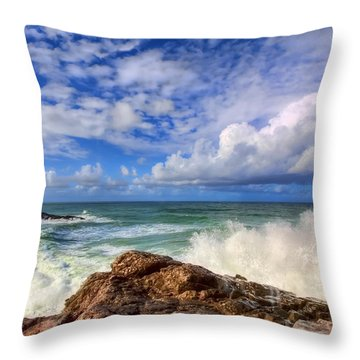 Toco Blues Throw Pillow