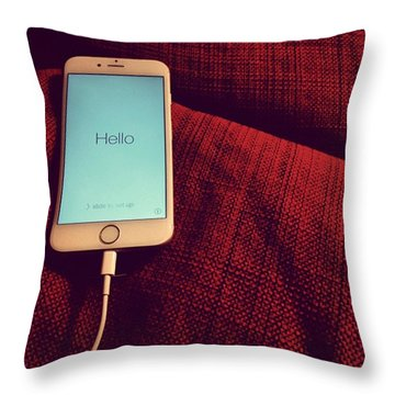 Today Is New #iphone Day! I Can Take Throw Pillow