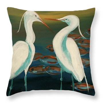 Today's Catch Throw Pillow