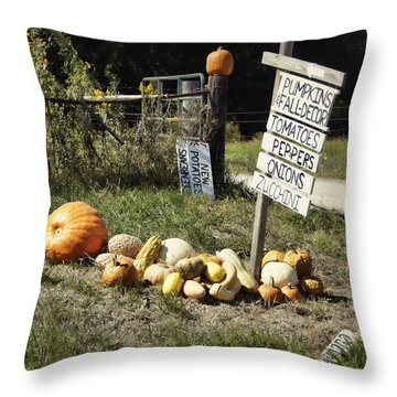 Throw Pillow featuring the photograph Today's Harvest by Cricket Hackmann