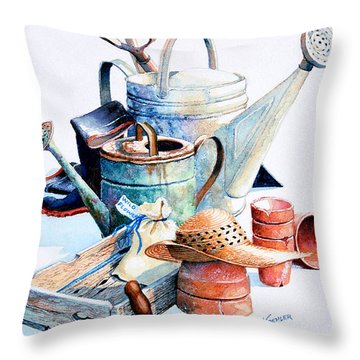 Todays Toil Tomorrows Pleasure II Throw Pillow