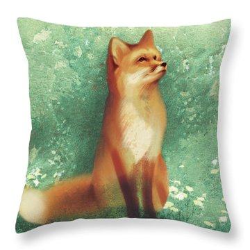 Toddy Fox Throw Pillow
