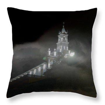 Todos Santos In The Fog Throw Pillow by Al Bourassa