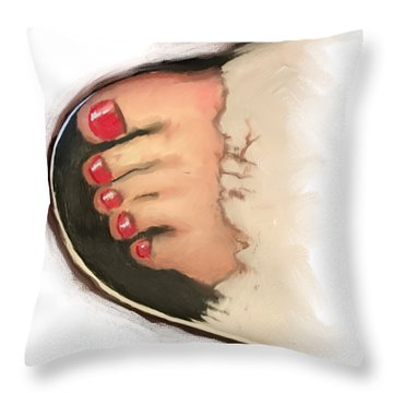 Toes 01 Throw Pillow
