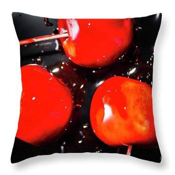 Toffee Apple Splash. Fine Art Food Throw Pillow