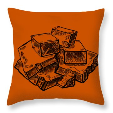 Toffee Fudge And Caramel  Throw Pillow
