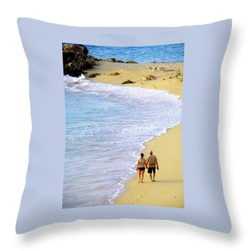 Together Alone Throw Pillow by Karen Wiles