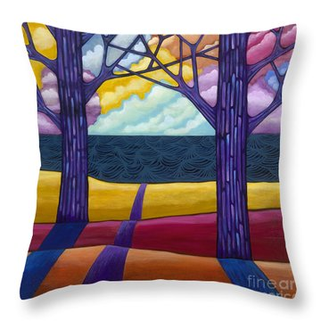 Throw Pillow featuring the painting Together Forever by Carla Bank