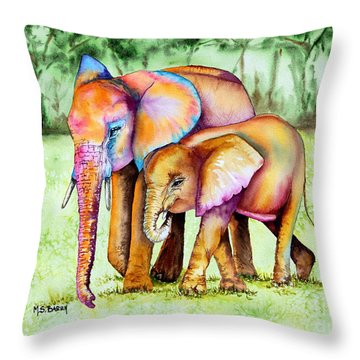 Together Forever Throw Pillow by Maria Barry