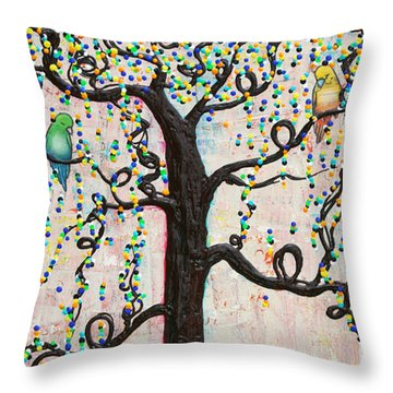 Throw Pillow featuring the mixed media Together Forever by Natalie Briney