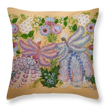 Together Throw Pillow by Kateryna Wiman
