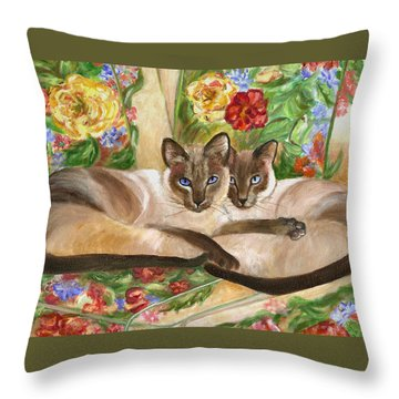 Together Throw Pillow by Mary Jo Zorad