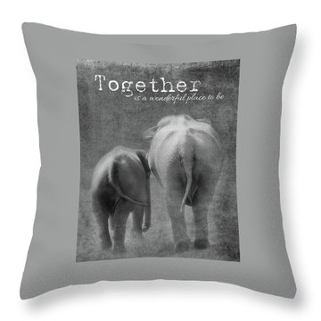 Throw Pillow featuring the photograph Together by Rebecca Cozart