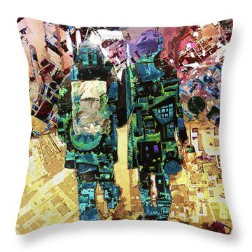 Throw Pillow featuring the painting Together by Tony Rubino