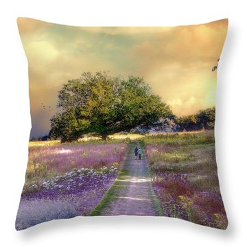 Together We Can Weather The Storms Throw Pillow