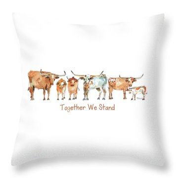 Together We Stand Lh013 Throw Pillow