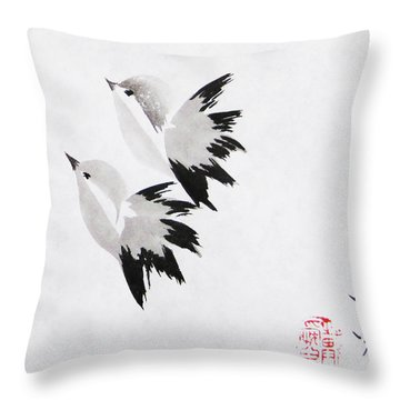 Together We'll Fly Side By Side Throw Pillow