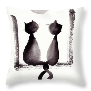 Together We'll Grow Old Throw Pillow