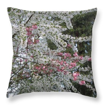 Throw Pillow featuring the photograph Togetherness by Marie Neder
