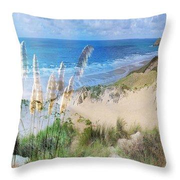 Toi Tois In Coastal  Sandhills Throw Pillow