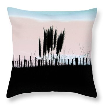 Toitoi Sunset Throw Pillow by Karen Lewis