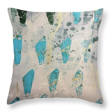 Throw Pillow featuring the painting Tokens by Robin Maria Pedrero
