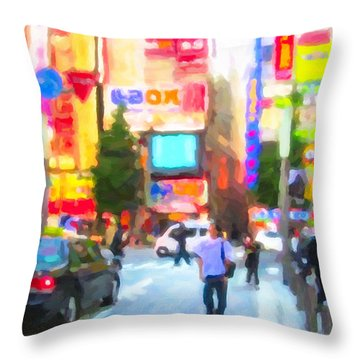 Tokyo Throw Pillow by Chris Armytage
